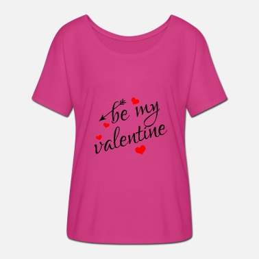 Be My Valentine Be My Valentine - T-shirt manches chauve-souris Femme Bella + Canvas