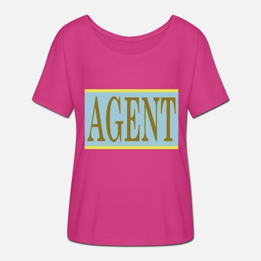 Secret Agent agent - Women's Batwing-Sleeve T-Shirt by Bella + Canvas