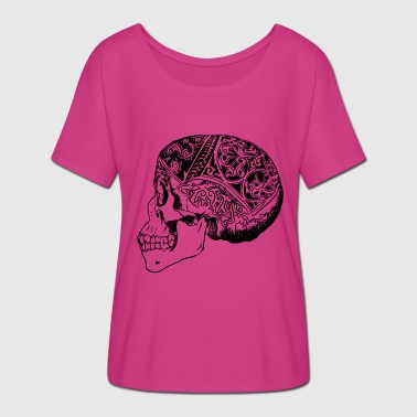 Borneo Borneo skull - Women's Batwing-Sleeve T-Shirt by Bella + Canvas