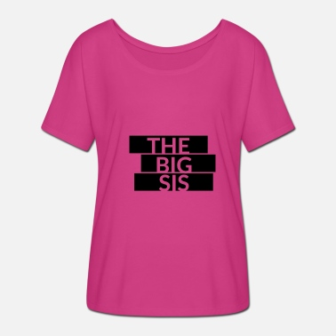 Big Letter The Big Sis lettering - Women's Batwing-Sleeve T-Shirt by Bella + Canvas