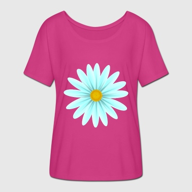 Teal Teal Daisy Top Down - Women's Batwing-Sleeve T-Shirt by Bella + Canvas