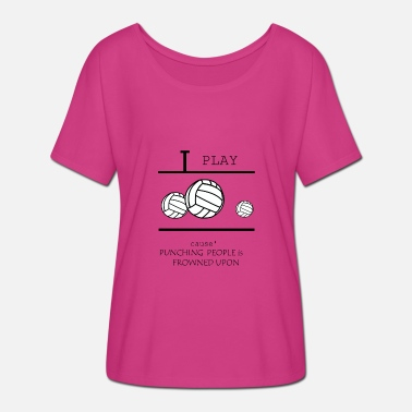 Beach Volleyball Volleyball, beach volleyball, volleyball girls - Frauen T-Shirt mit Fledermausärmeln von Bella + Canvas
