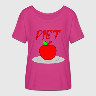 diet - Women's Batwing-Sleeve T-Shirt by Bella + Canvas