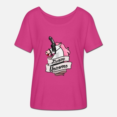 Bdsm Humor Fucking BDSM Unicorns - Frauen T-Shirt mit Fledermausärmeln von Bella + Canvas