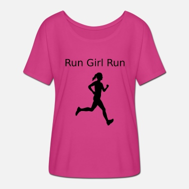 Run Like A Girl run girl run 2 - Frauen T-Shirt mit Fledermausärmeln von Bella + Canvas