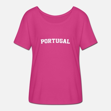 Portugal Portuguese Portugal Soccer Portuguese Futebol - Women's Batwing-Sleeve T-Shirt by Bella + Canvas