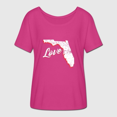 Love Florida Florida FL Home Love - Women's Batwing-Sleeve T-Shirt by Bella + Canvas
