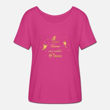 Gianna fairy fairies fairy first name Gianna - Women's Batwing-Sleeve T-Shirt by Bella + Canvas