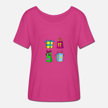 Bow Box Gifts birthday women girl - Women's Batwing-Sleeve T-Shirt by Bella + Canvas