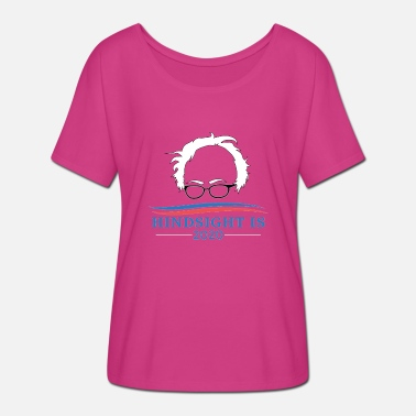 Bernie Sanders Bernie Sanders Hindsight Is 2020 Head - Camiseta mujer con mangas murciélago de Bella + Canvas