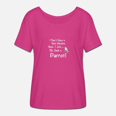 Span Parrot Short Attention Span - Women's Batwing-Sleeve T-Shirt by Bella + Canvas