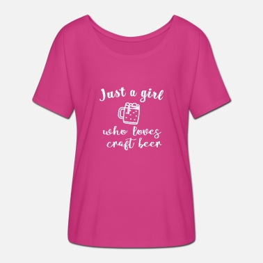 Funny Quotes Cute Just a girl who loves craft beer gift - Women's Batwing T-Shirt