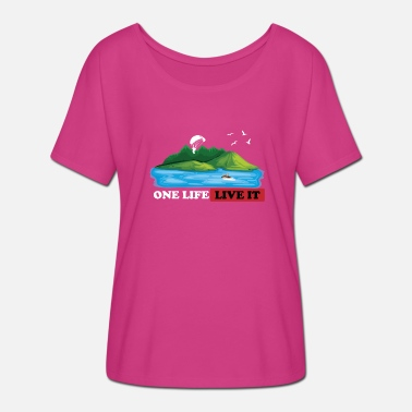 One Life Live It ONE LIFE LIVE IT - Women's Batwing-Sleeve T-Shirt by Bella + Canvas