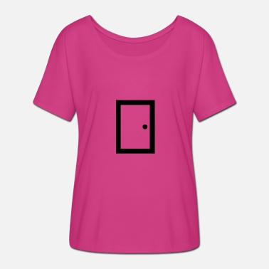 door closed - T-shirt manches chauve-souris Femme Bella + Canvas