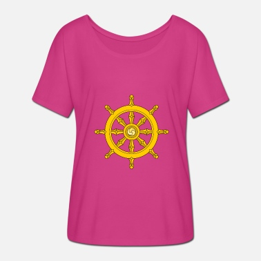 Wheel Dharma Wheel/ships wheel - Women's Batwing-Sleeve T-Shirt by Bella + Canvas
