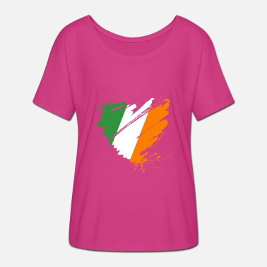Green Island Heart Heart Ireland Éire Ireland Green Island Dublin - Women's Batwing-Sleeve T-Shirt by Bella + Canvas