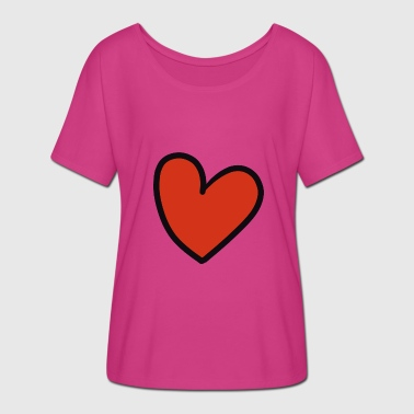 Crooked crooked heart - Women's Batwing-Sleeve T-Shirt by Bella + Canvas