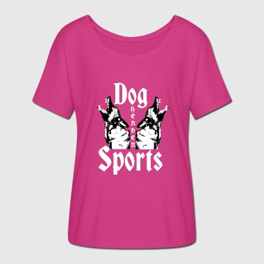 Herder, Dog Training, Dog , - Women's Batwing-Sleeve T-Shirt by Bella + Canvas