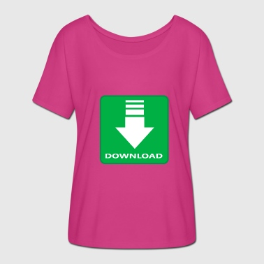 Motive Download Download Geschenk für Nerds, nerdy Idee - Frauen T-Shirt mit Fledermausärmeln von Bella + Canvas