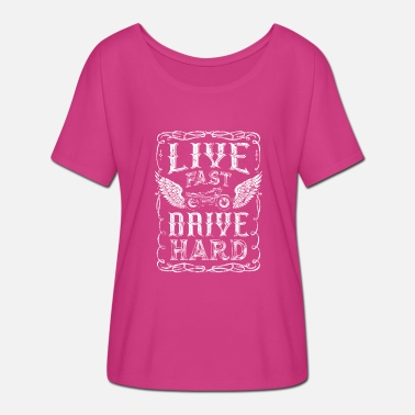 Hard Drive Live fast and drive hard - Women's Batwing T-Shirt