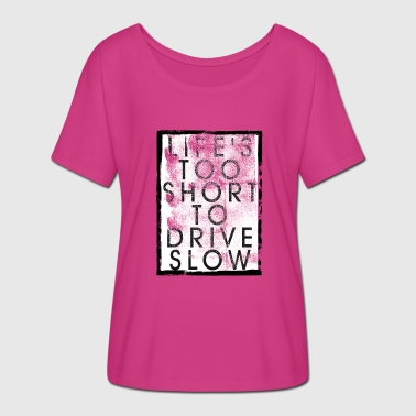Shortboard Life S FOR KORT KØRSEL SLOW - Dame T-shirt med flagermusærmer fra Bella + Canvas