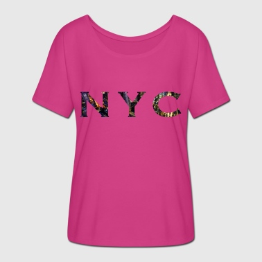 New York City NYC - Women's Batwing-Sleeve T-Shirt by Bella + Canvas