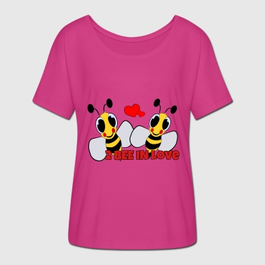 For Bee Lovers to be in love - lovers bees - Women's Batwing-Sleeve T-Shirt by Bella + Canvas
