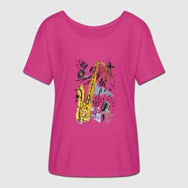 Magic Saxophone - Women's Batwing-Sleeve T-Shirt by Bella + Canvas
