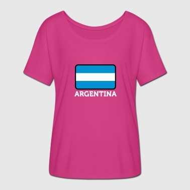 Half Spanish The National Flag Of Argentina - Women's Batwing-Sleeve T-Shirt by Bella + Canvas