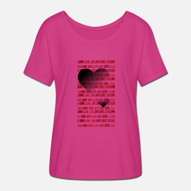 Big Love Big Heart Just love with a big heart - Women's Batwing-Sleeve T-Shirt by Bella + Canvas
