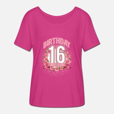 16 16 years old roses - Women's Batwing T-Shirt