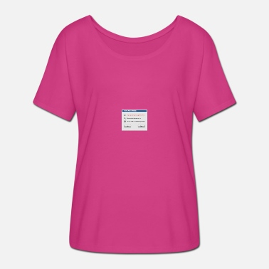 Windows Fix Windows - Vrouwen T-shirt met vleermuismouwen