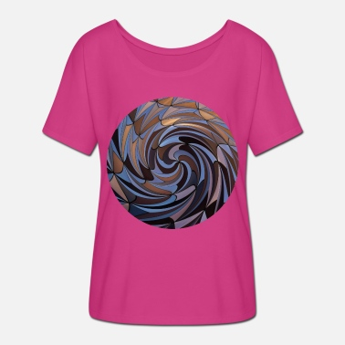 Twisted Shapes Twisted, Shapes Twisted. - Women's Batwing T-Shirt