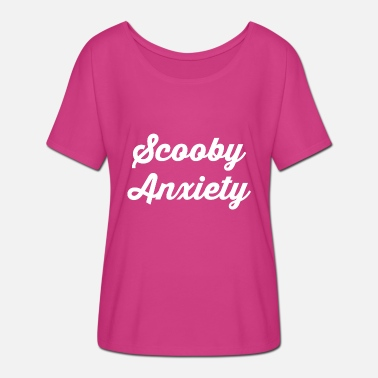 Scooby Scooby Anxiety - Logo White - Women's Batwing T-Shirt