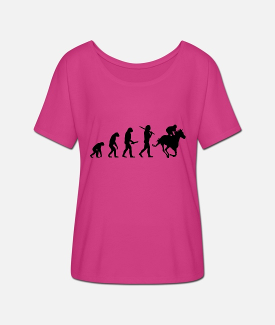 Birthday T-Shirts - rider evolution progress development - Women's Batwing T-Shirt fuchsia red