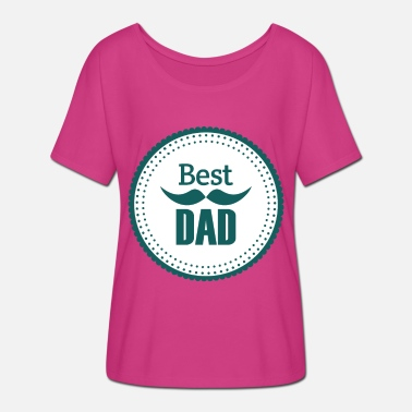 Papa Als Superheld Best Dad Vater Daddy Papi Papa Dad - Frauen Fledermaus T-Shirt