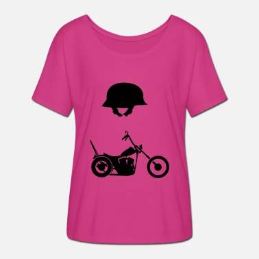 Chopper Chopper and helmet - Women's Batwing T-Shirt