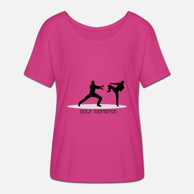 Self Defence Self-defense - Women's Batwing T-Shirt