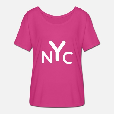 Nyc NYC - T-shirt med flagermusærmer dame