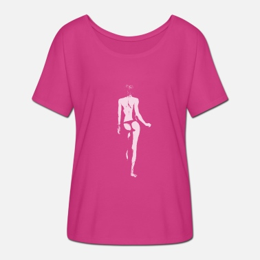 Naked Woman Naked woman from behind - Women's Batwing T-Shirt