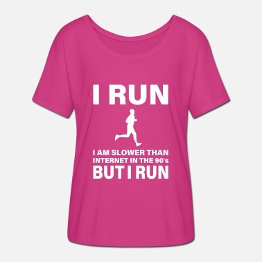 THE SLOWEST RUNNER IN WILD WEST - Women's Batwing T-Shirt