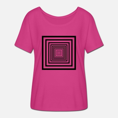 Rectangle rectangles - T-shirt manches chauve-souris Femme