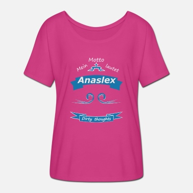 Motto Mein Motto - Anaslex! - Frauen Fledermaus T-Shirt