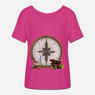 Steam Engine Steam Compose Steam Train & Traction Engine - Women's Batwing T-Shirt
