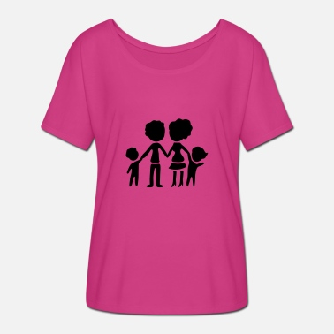 Silhouette Family silhouette - Women's Batwing T-Shirt