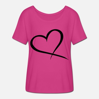 Big Heart big heart in black New - Women's Batwing T-Shirt
