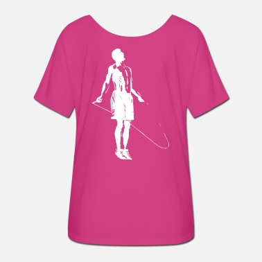 Jump Rope rope skipping Athlete jumping at the rope - Women's Batwing T-Shirt