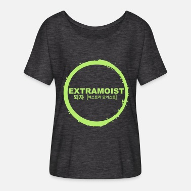 Moist ExtraMoist Signature Circle - Women's Batwing-Sleeve T-Shirt by Bella + Canvas
