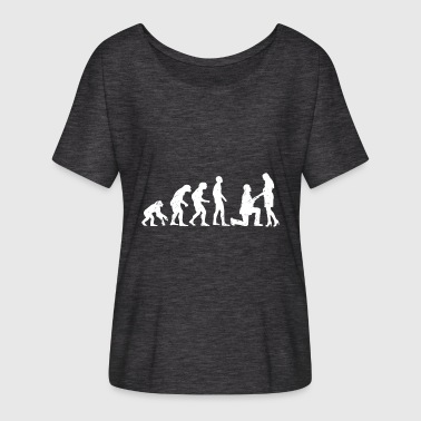 Evolution Of Marriage Funny Marriage Evolution T-shirt - Women's Batwing-Sleeve T-Shirt by Bella + Canvas