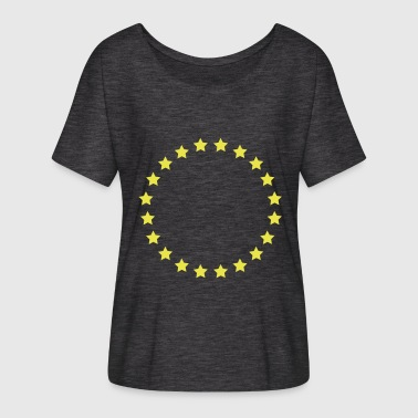 Star Circle Star Star Circle Star Circle Round 1c - Women's Batwing-Sleeve T-Shirt by Bella + Canvas